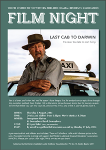 Last cab to Darwin - flyer