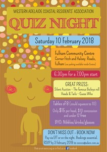 WACRA Quiz Night 2018